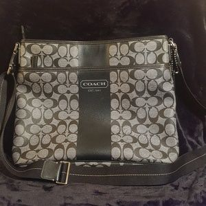 Coach Black Messenger/ Shoulder Bag